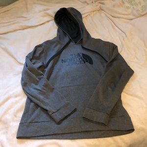 Men's Gray North Face Hoodie Large